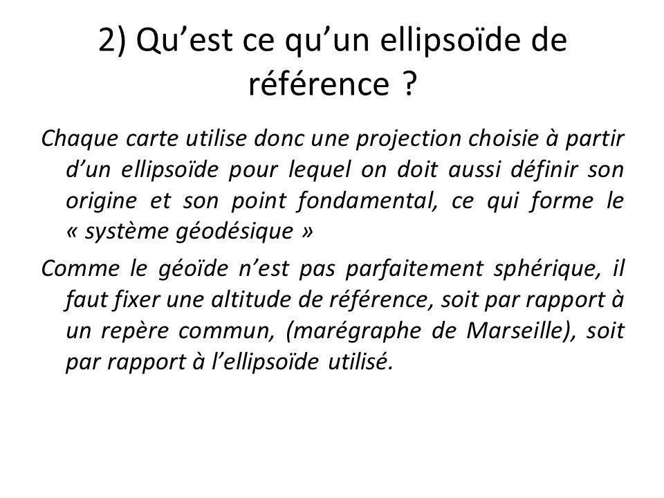 2) Qu'est ce qu'un ellipsoïde de référence
