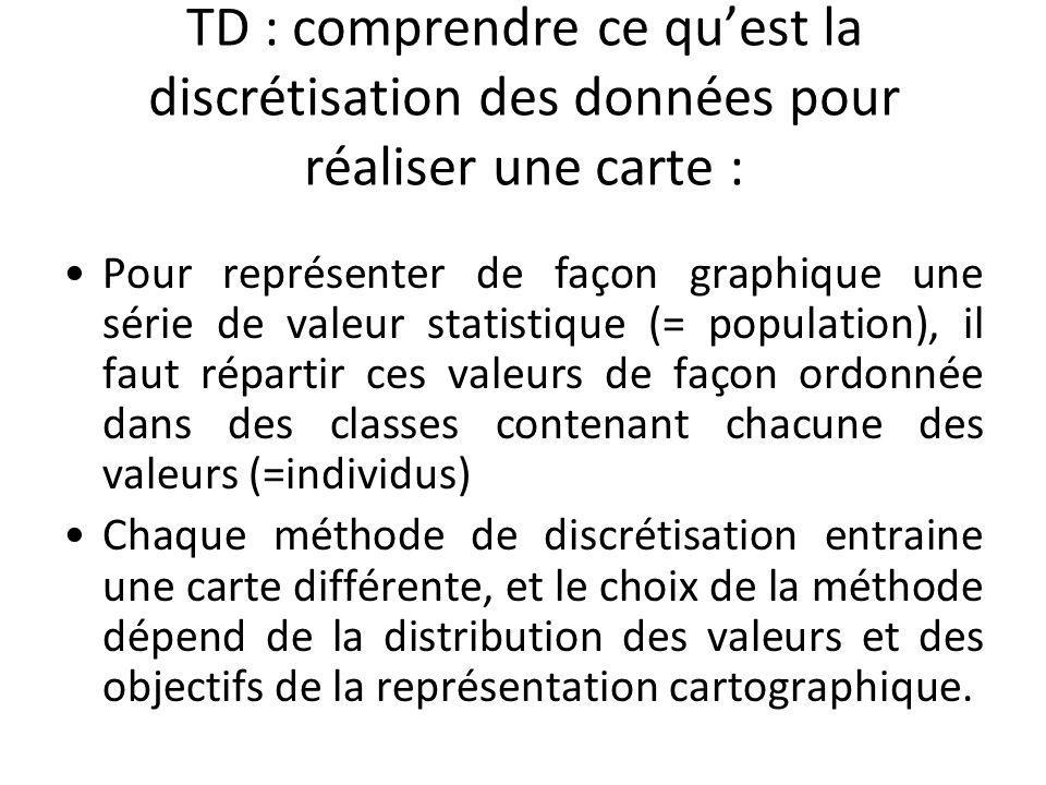 TD : comprendre ce qu'est la discrétisation des données pour réaliser une carte :