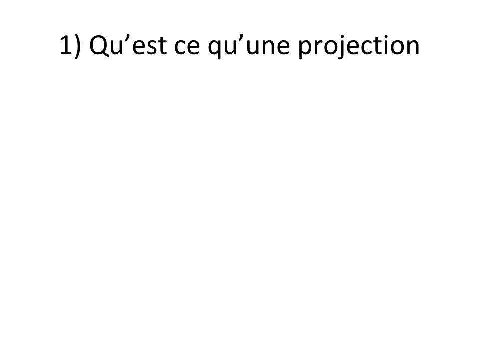 1) Qu'est ce qu'une projection