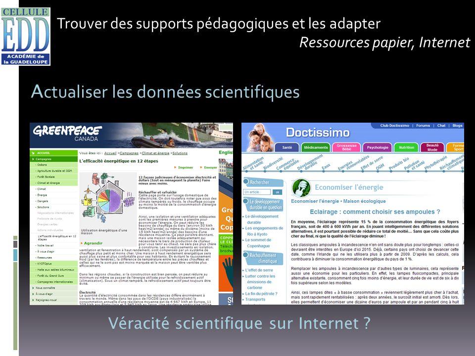 Véracité scientifique sur Internet