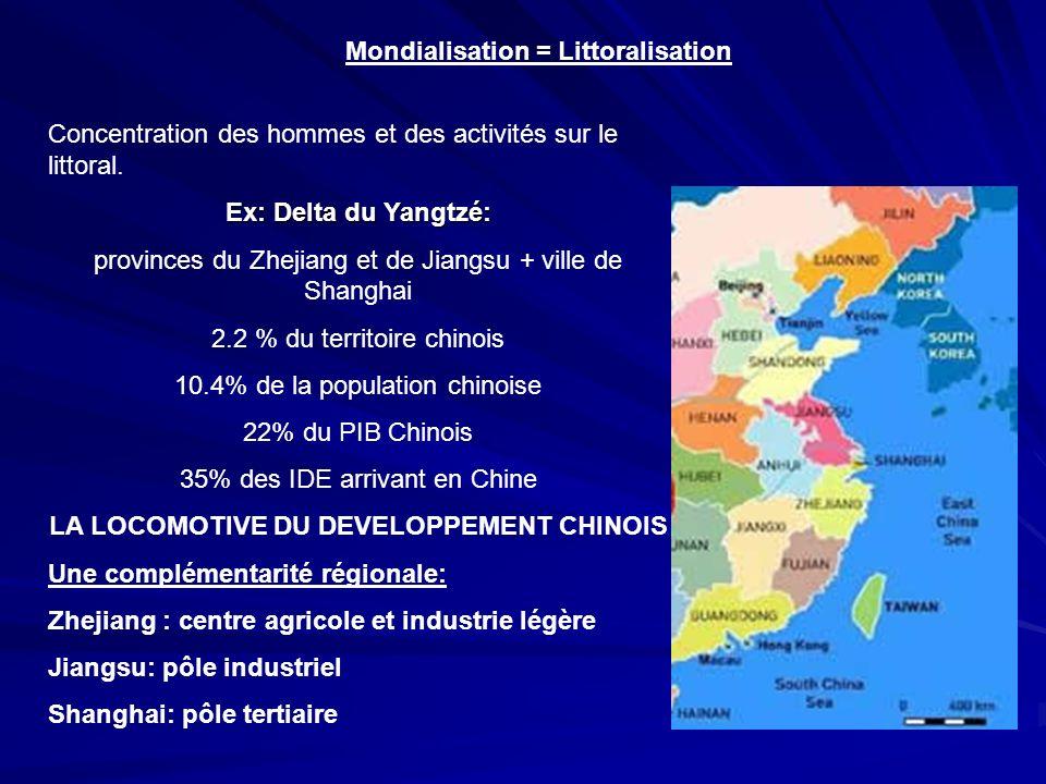 Mondialisation = Littoralisation