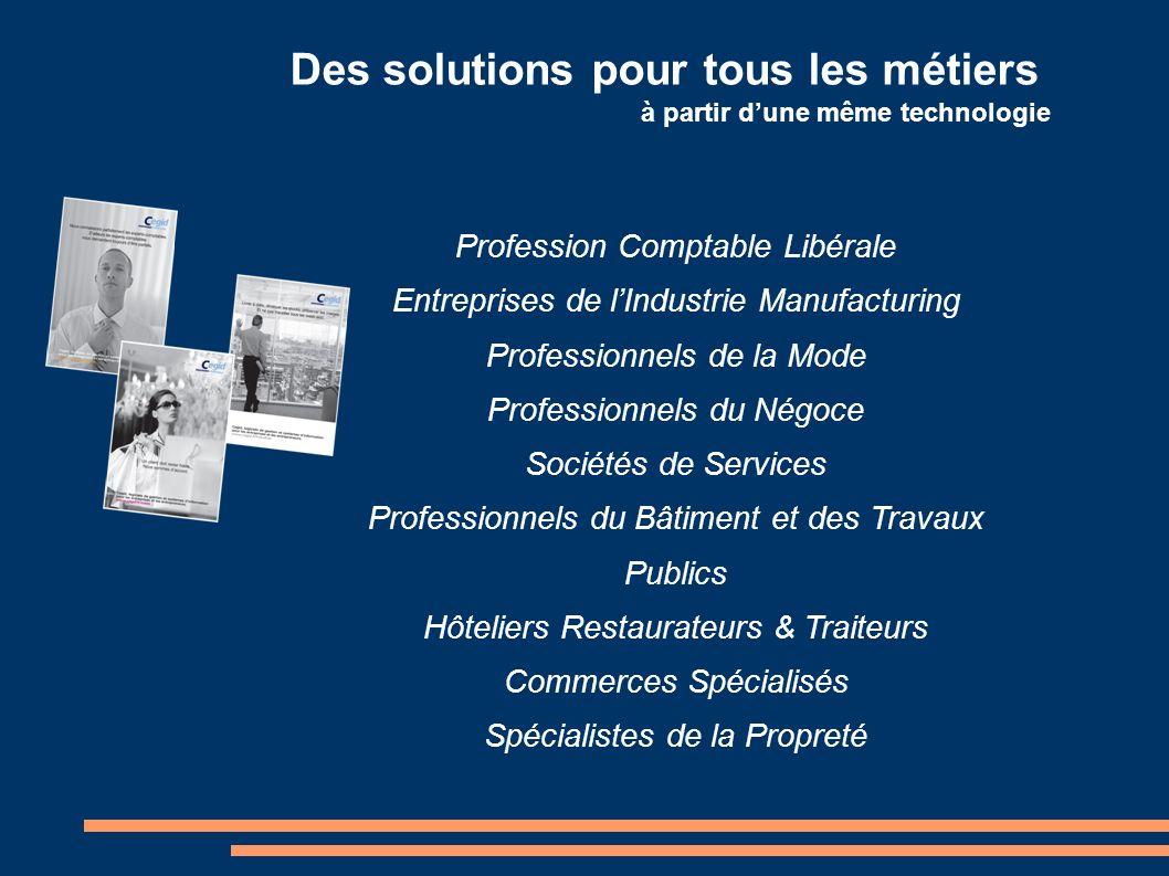 Des solutions pour tous les métiers