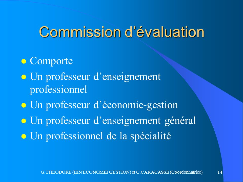 Commission d'évaluation