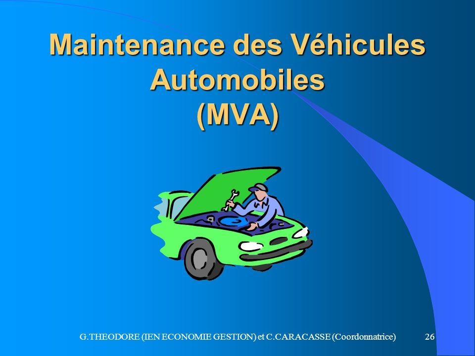 Maintenance des Véhicules Automobiles (MVA)