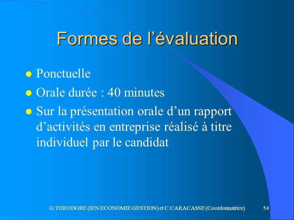 Formes de l'évaluation