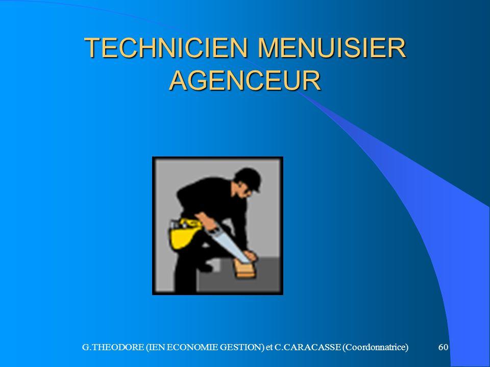 TECHNICIEN MENUISIER AGENCEUR