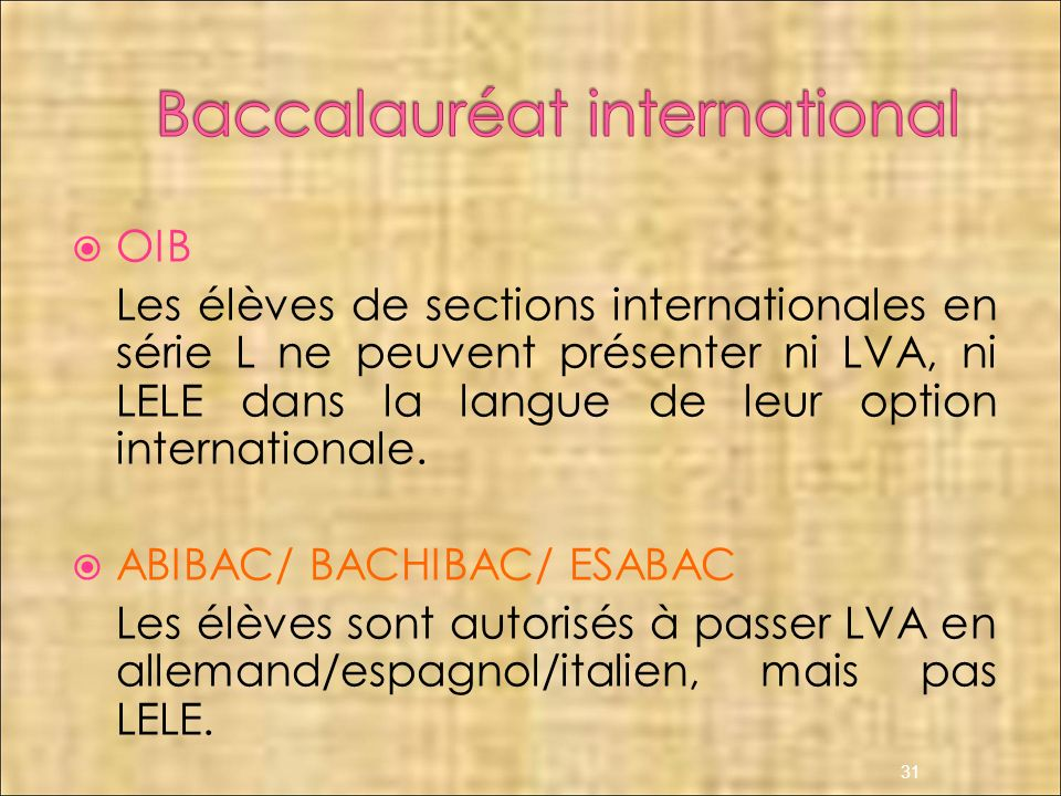 Baccalauréat international