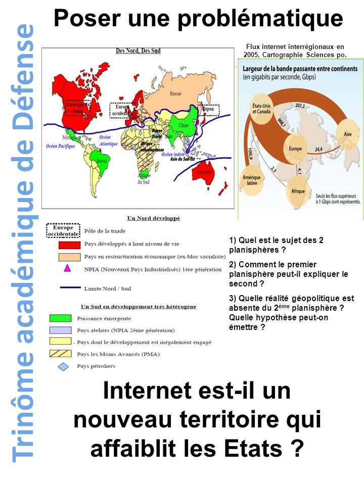 Flux internet interrégionaux en 2005, Cartographie Sciences po.