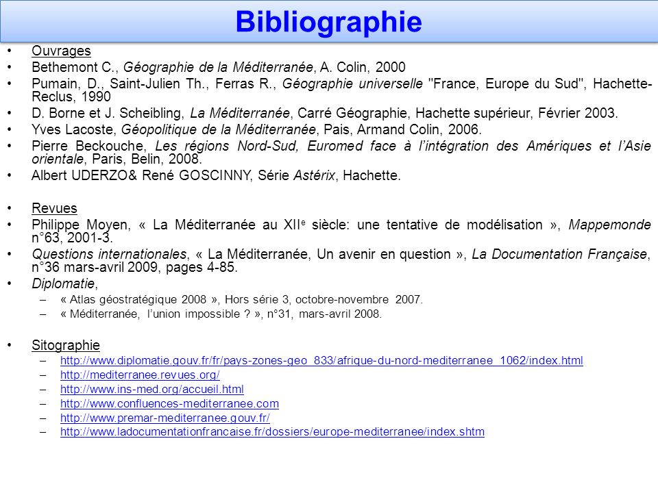 Bibliographie Ouvrages