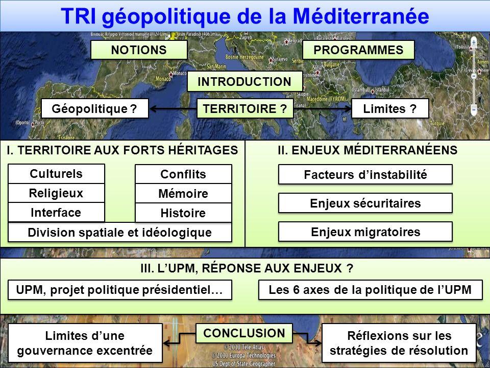 TRI géopolitique de la Méditerranée