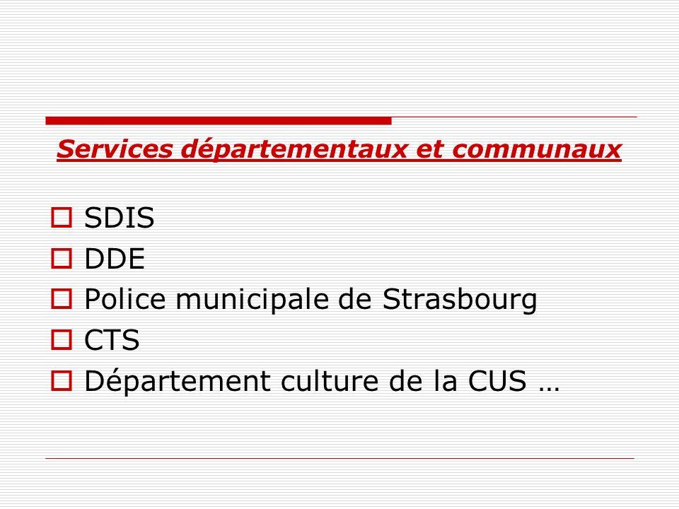 Services départementaux et communaux