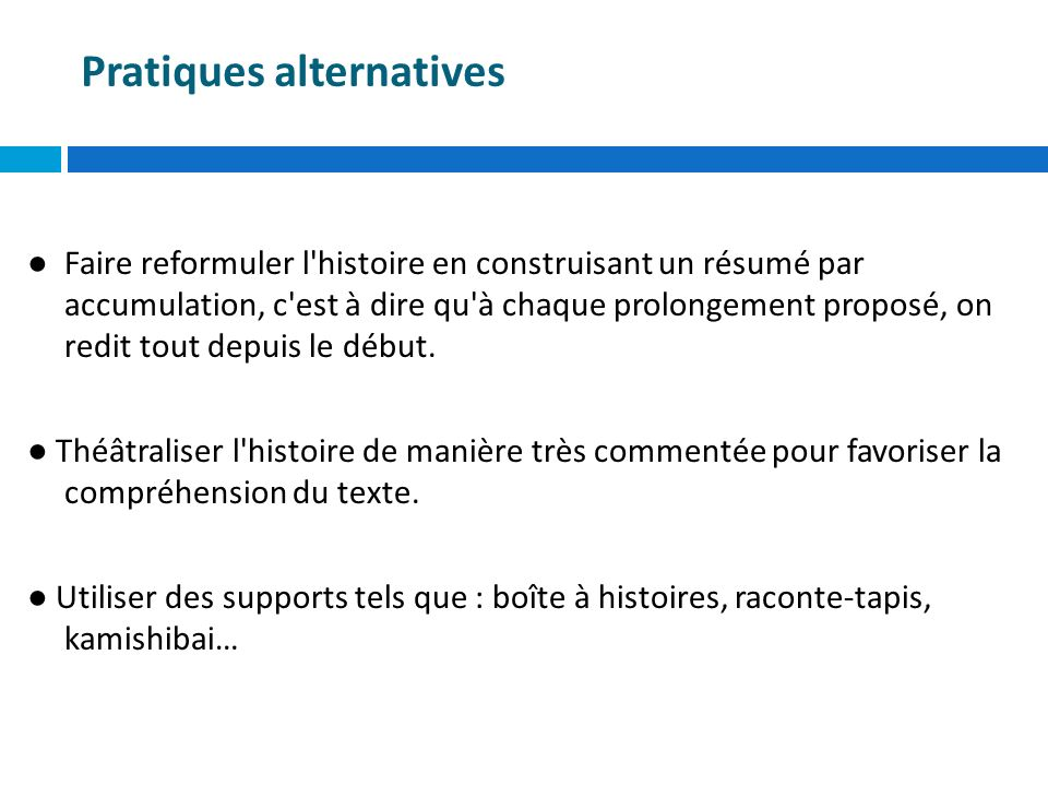 Pratiques alternatives