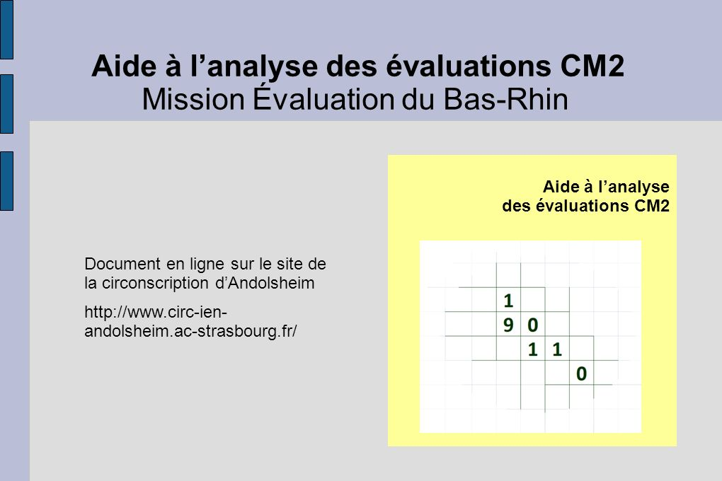Mission Évaluation du Bas-Rhin