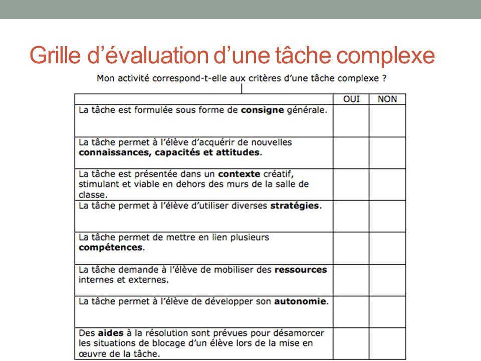 Exemples concrets de t ches complexes en histoire au - Grille d evaluation des competences infirmieres ...