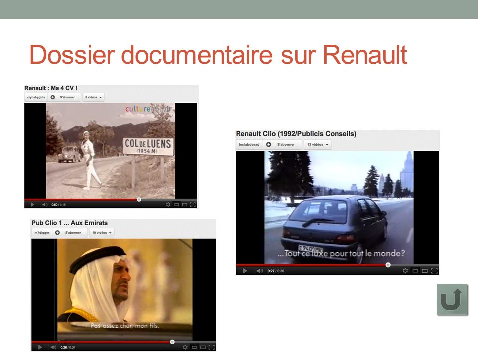 Dossier documentaire sur Renault