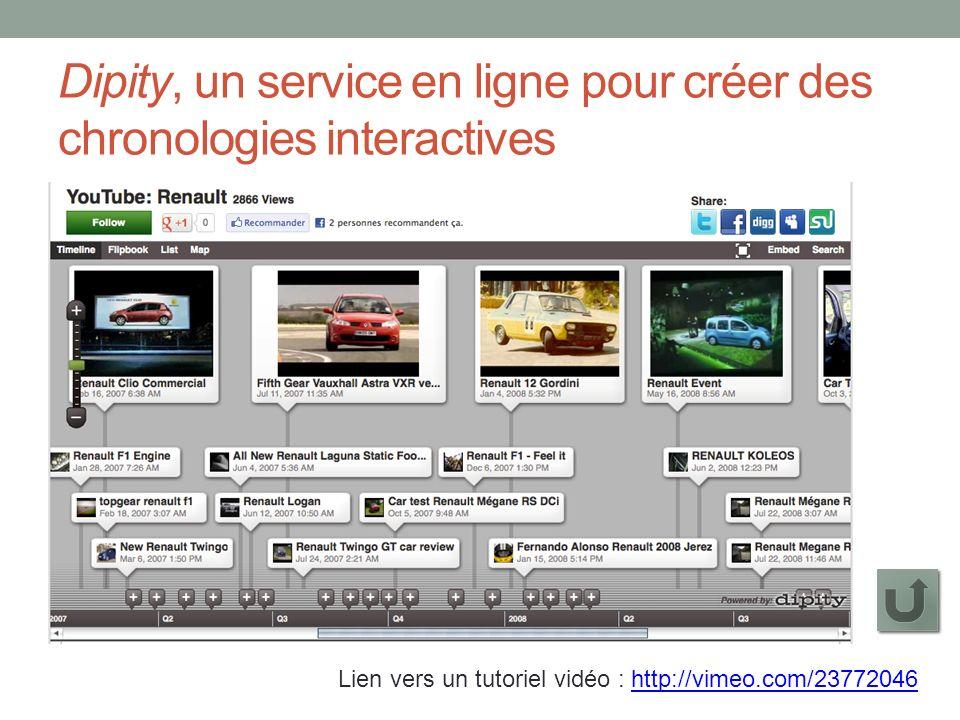 Dipity, un service en ligne pour créer des chronologies interactives