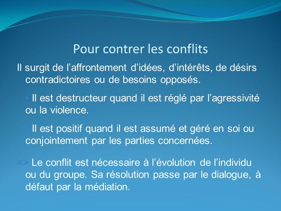 Pour contrer les conflits
