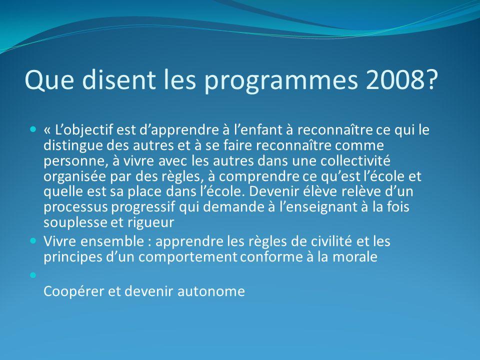 Que disent les programmes 2008