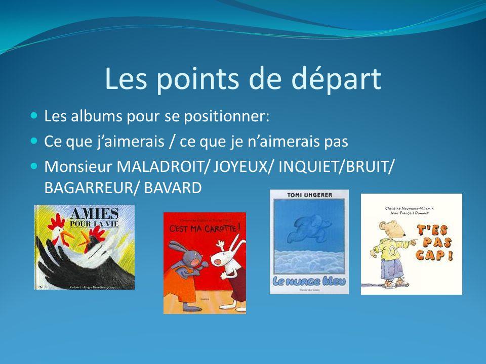 Les points de départ Les albums pour se positionner: