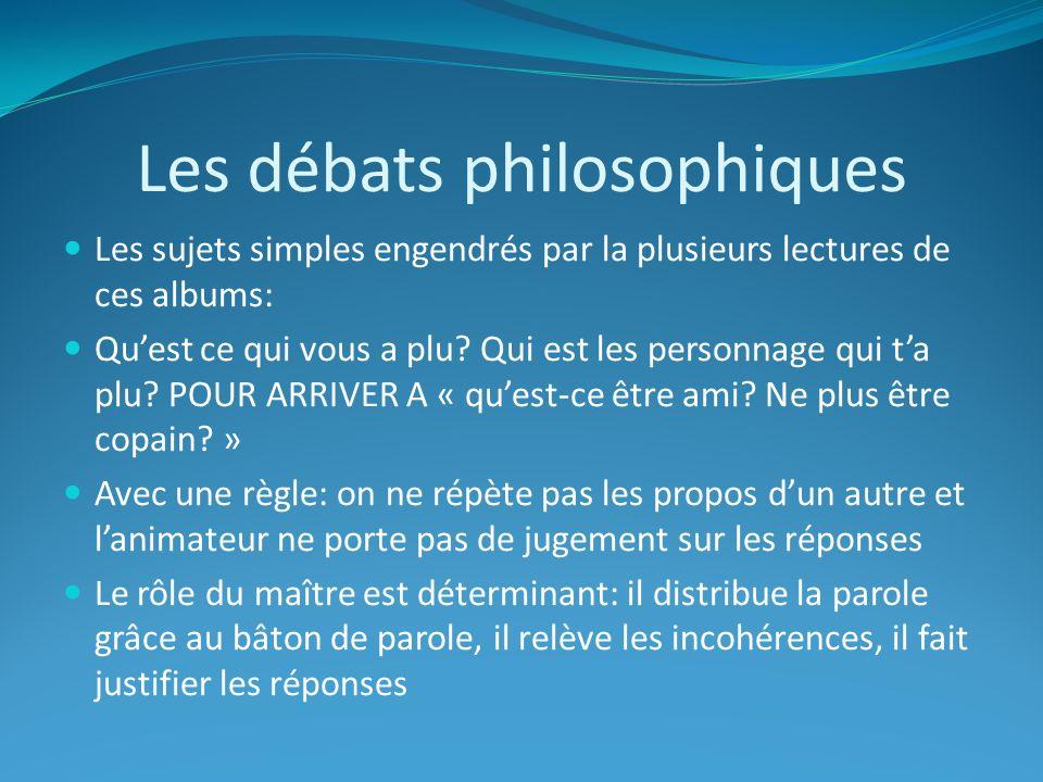 Les débats philosophiques