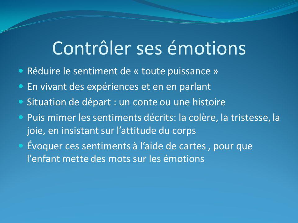 Contrôler ses émotions