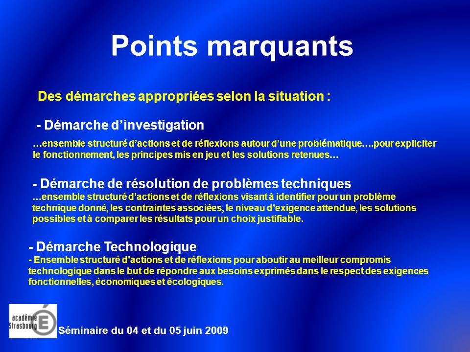 Points marquants Des démarches appropriées selon la situation :