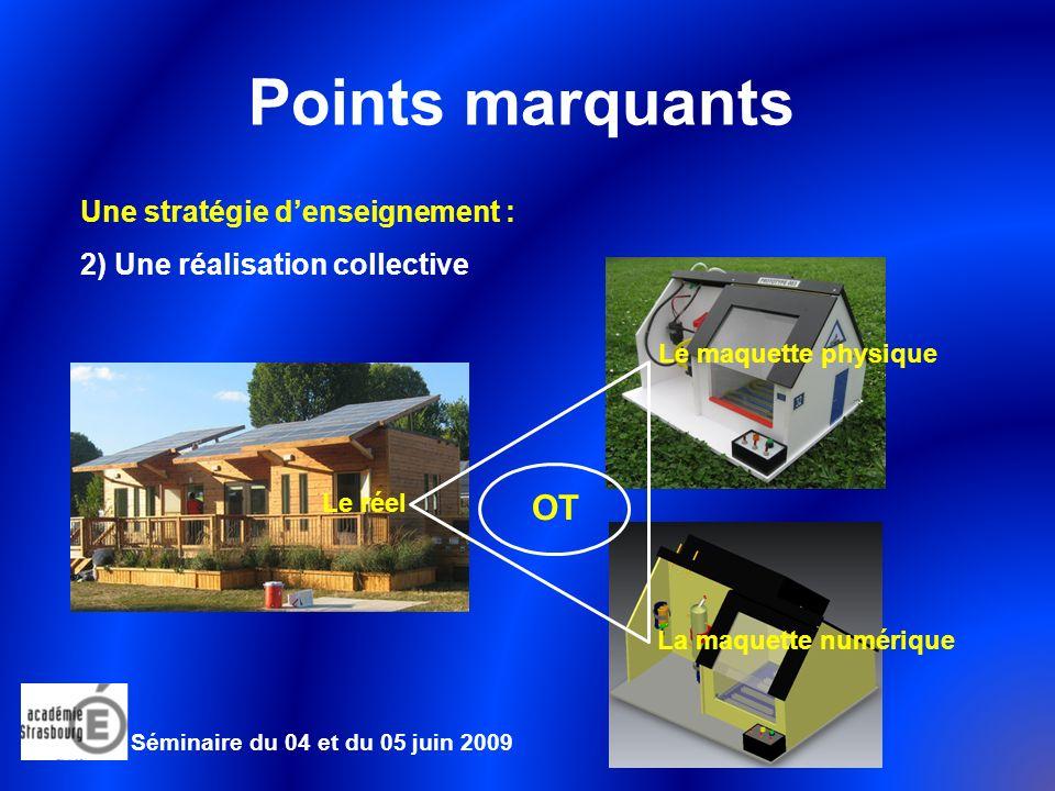 Points marquants OT Une stratégie d'enseignement :