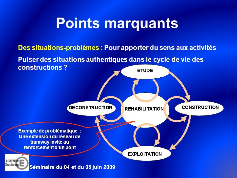 Points marquants Des situations-problèmes : Pour apporter du sens aux activités.