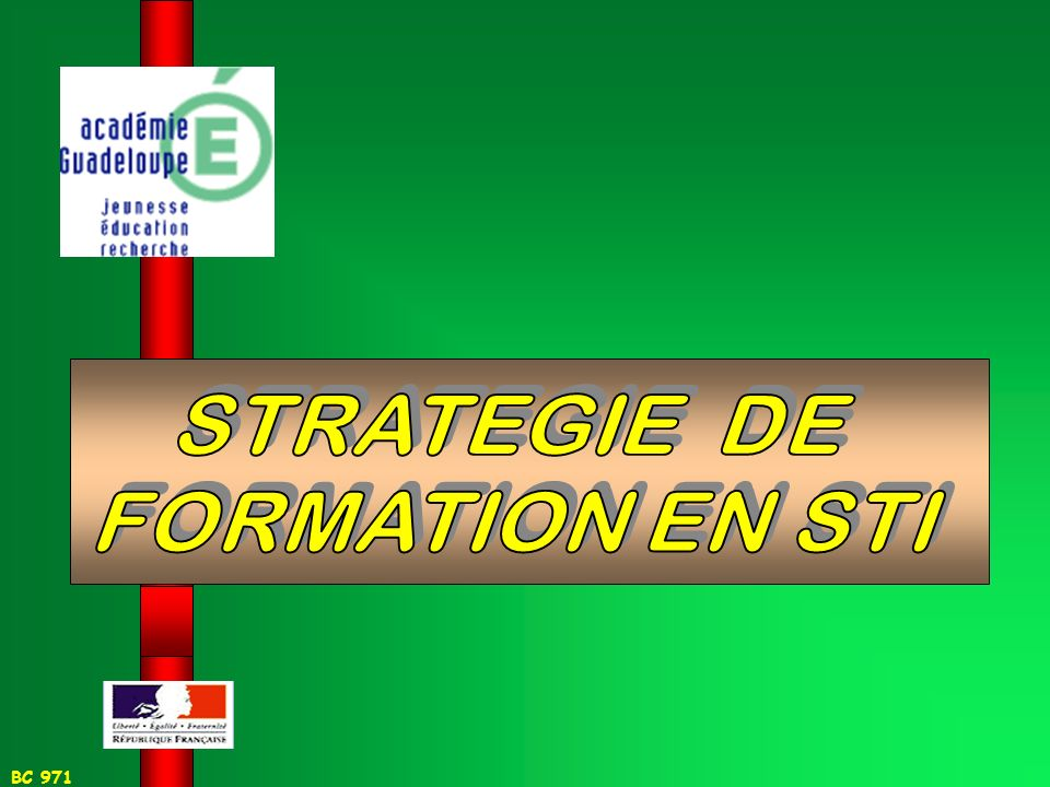 STRATEGIE DE FORMATION EN STI
