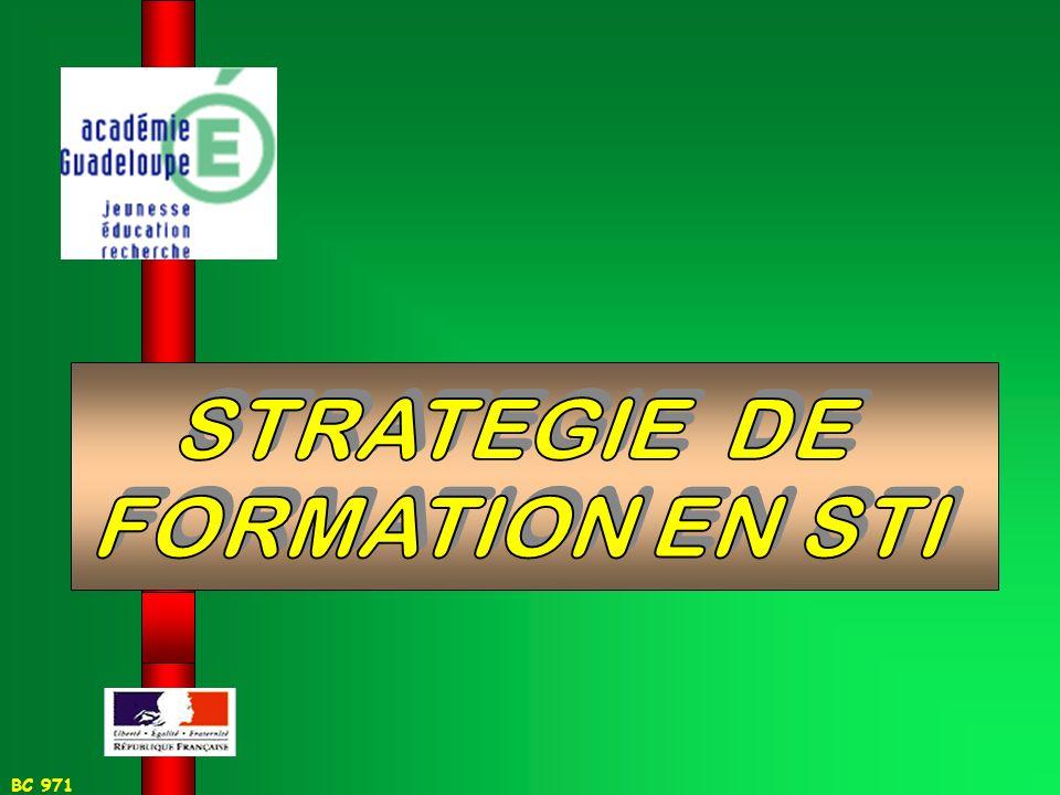 STRATEGIE DE FORMATION EN STI