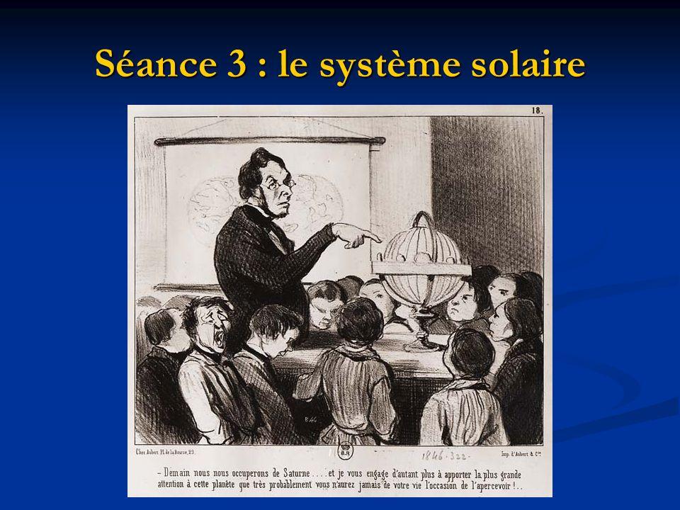 Séance 3 : le système solaire