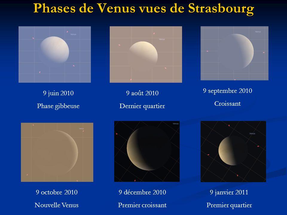 Phases de Venus vues de Strasbourg