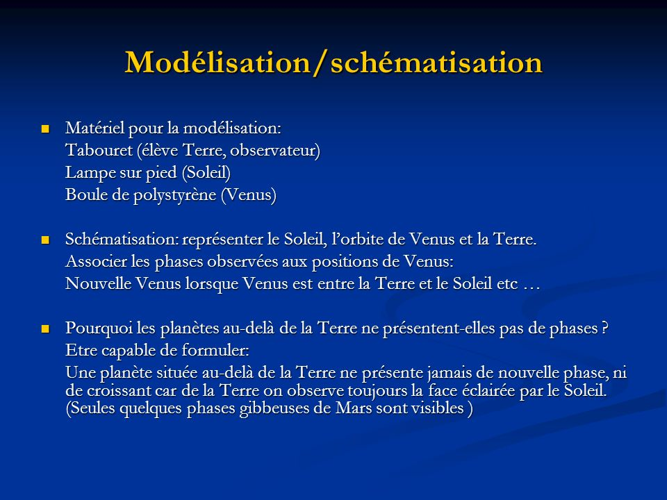 Modélisation/schématisation
