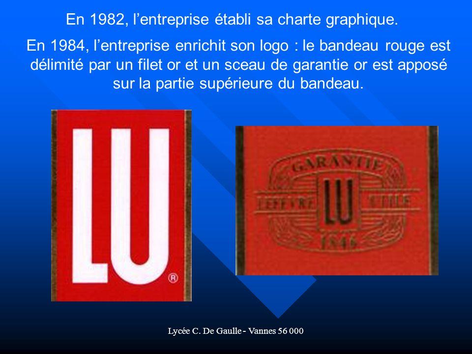 En 1982, l'entreprise établi sa charte graphique.