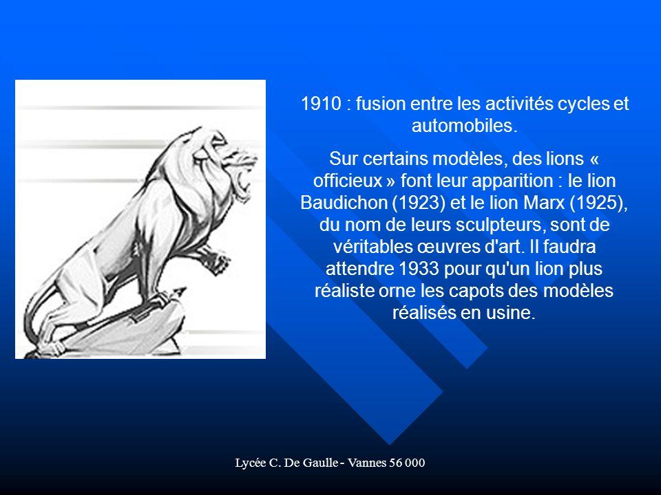 1910 : fusion entre les activités cycles et automobiles.