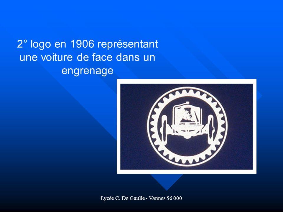 2° logo en 1906 représentant une voiture de face dans un engrenage