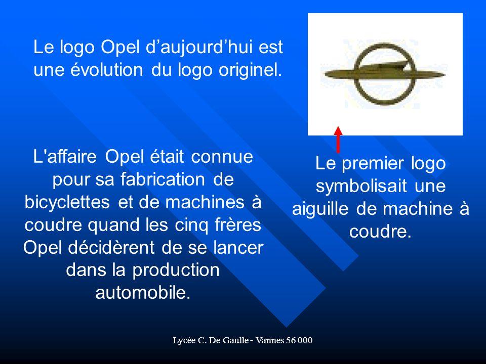 Le logo Opel d'aujourd'hui est une évolution du logo originel.