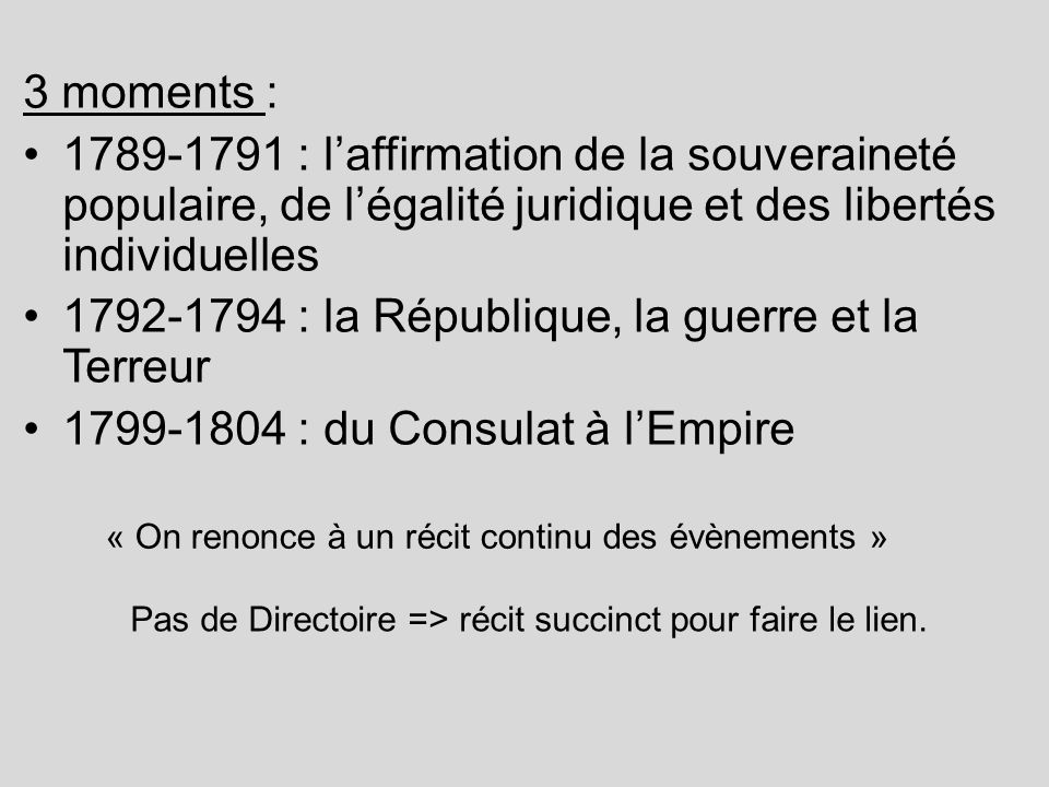1792-1794 : la République, la guerre et la Terreur