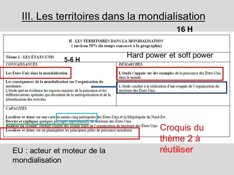 III. Les territoires dans la mondialisation