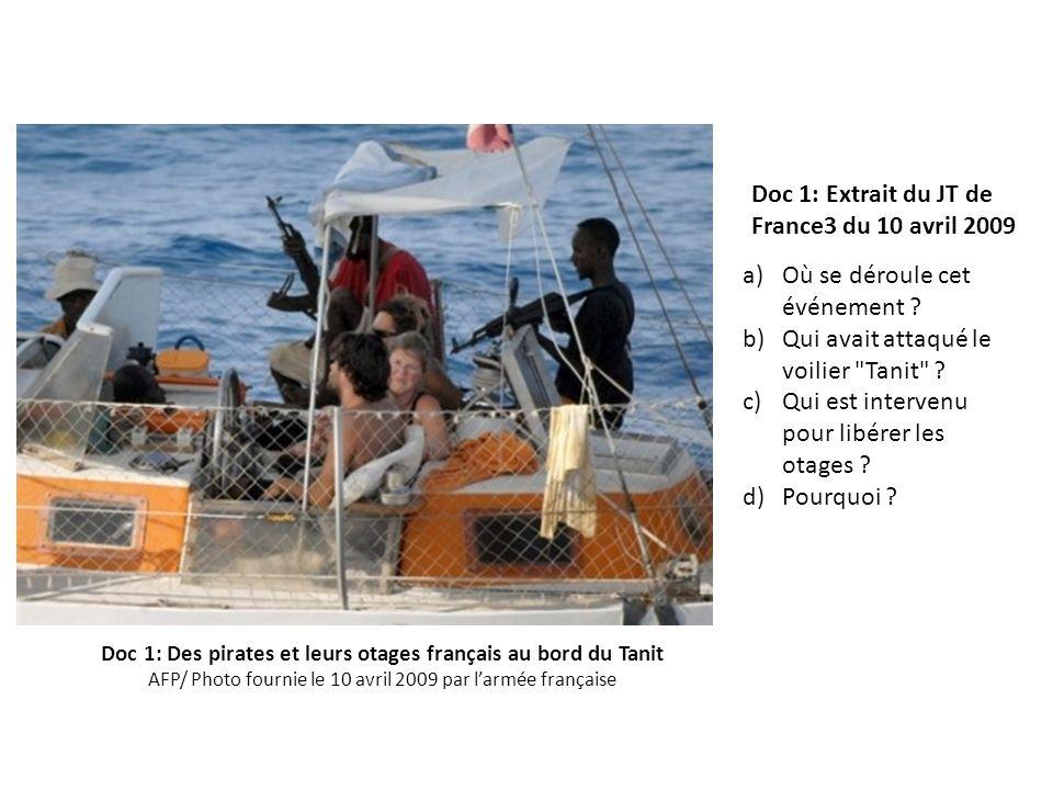 Doc 1: Des pirates et leurs otages français au bord du Tanit