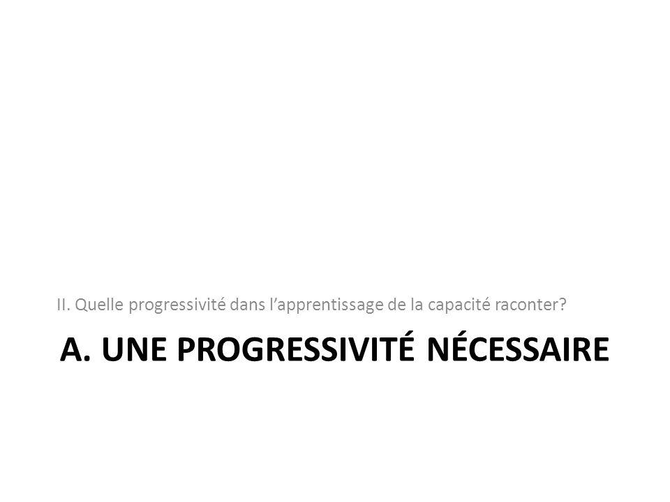 A. Une progressivité nécessaire