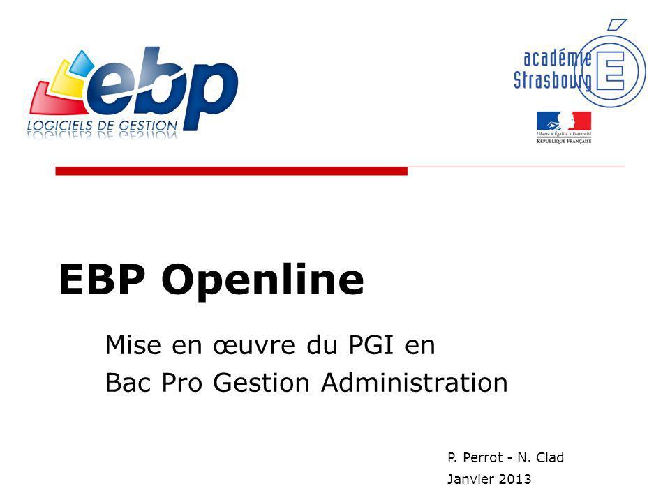 Mise en œuvre du PGI en Bac Pro Gestion Administration
