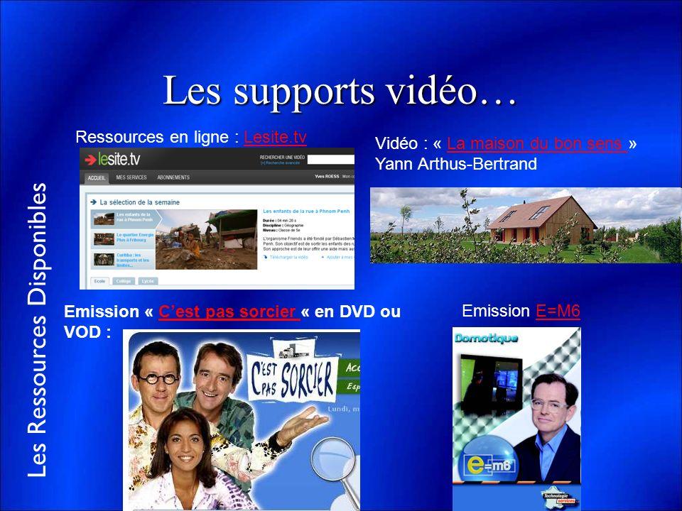 Les supports vidéo… Ressources en ligne : Lesite.tv