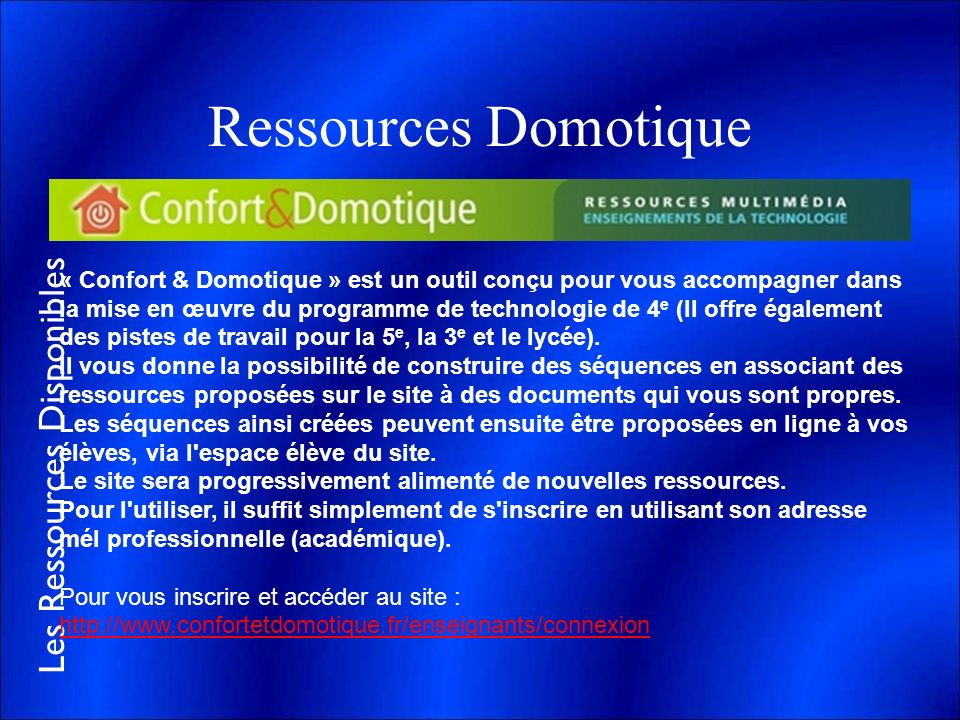 Ressources Domotique