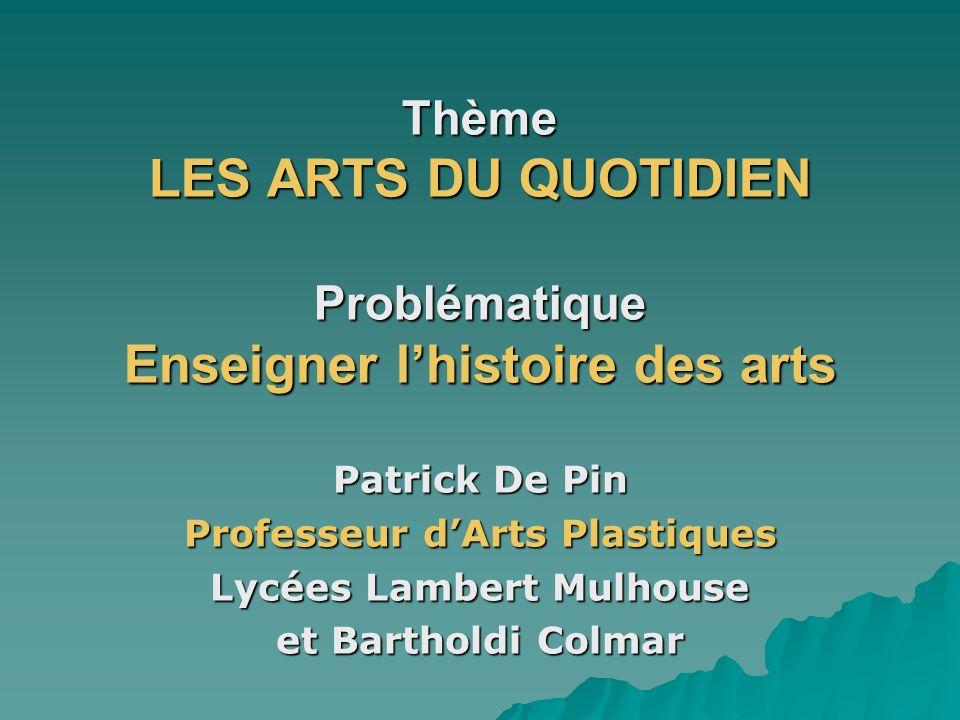 Professeur d'Arts Plastiques Lycées Lambert Mulhouse