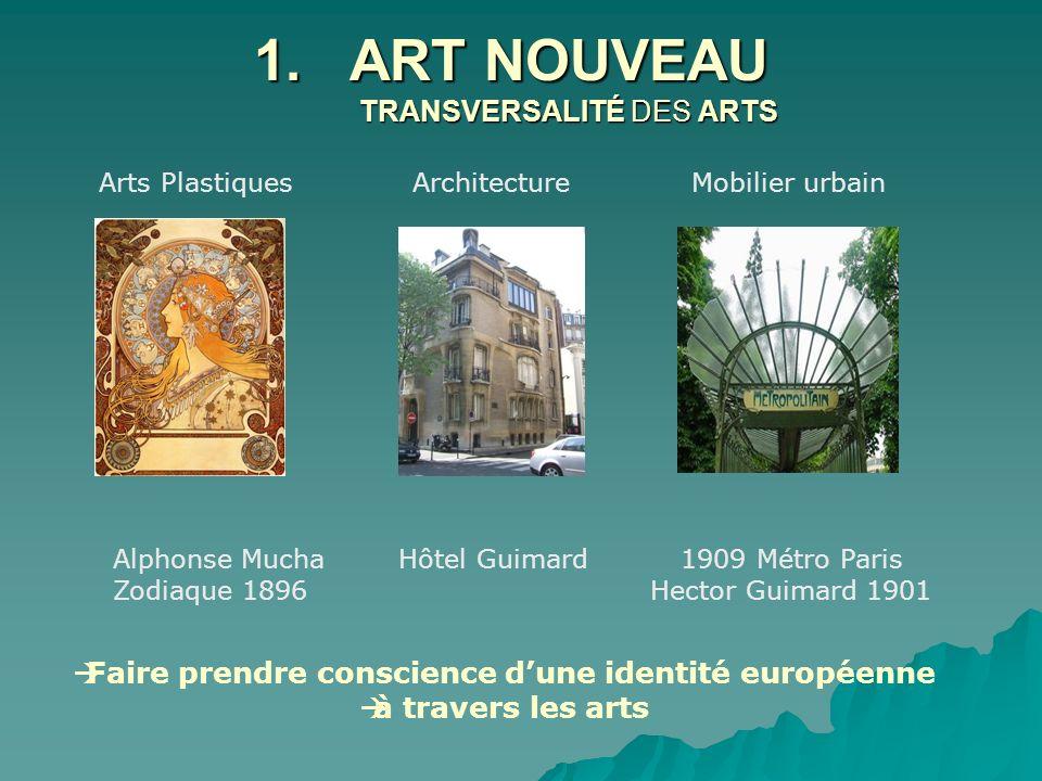 ART NOUVEAU TRANSVERSALITÉ DES ARTS