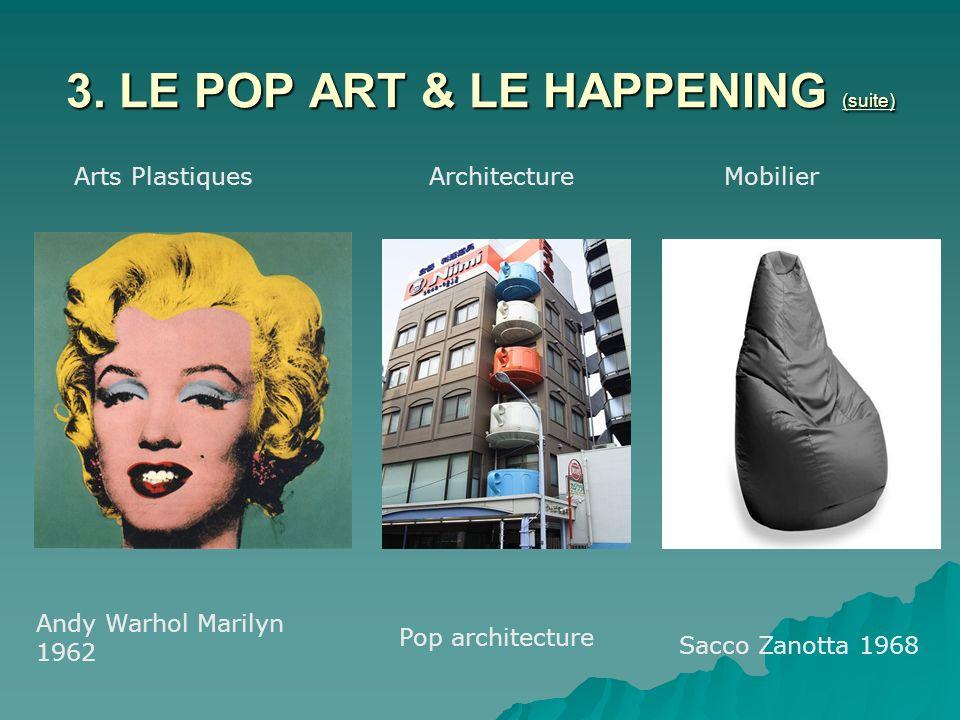 3. LE POP ART & LE HAPPENING (suite)