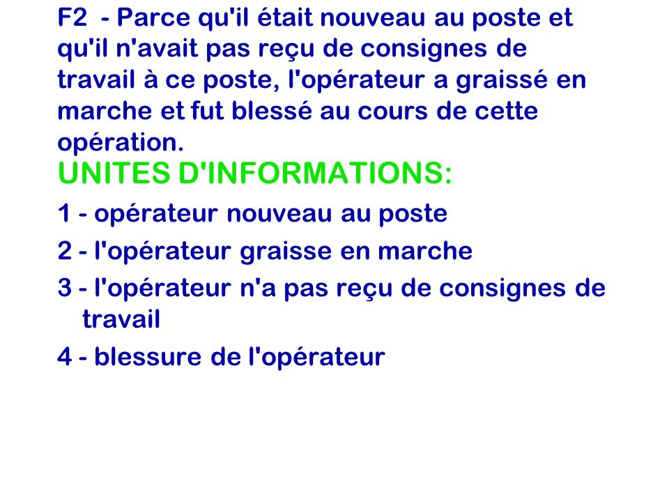 UNITES D INFORMATIONS: