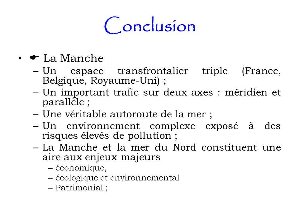 Conclusion  La Manche. Un espace transfrontalier triple (France, Belgique, Royaume-Uni) ;