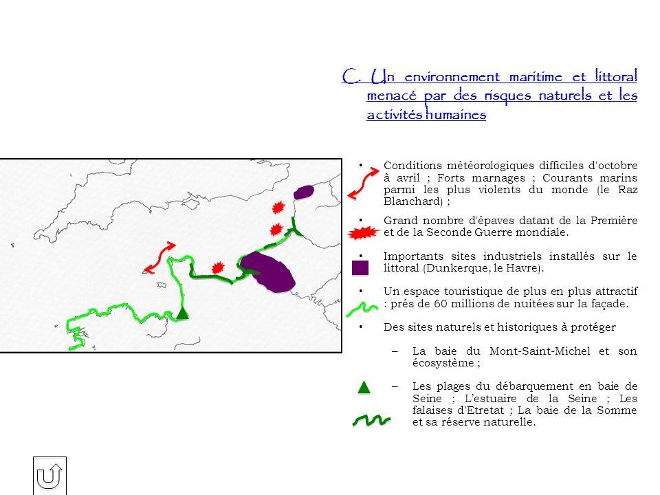 C. Un environnement maritime et littoral menacé par des risques naturels et les activités humaines
